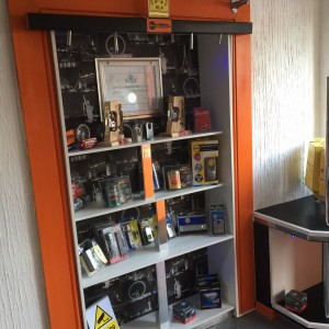 Locks in the City locksmith shop in Dagenham